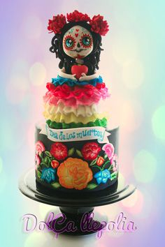 Dulce Catrina - by PALOMA SEMPERE GRAS @ CakesDecor.com - cake decorating website