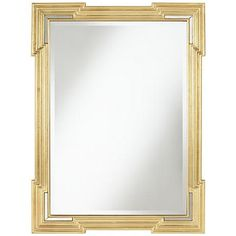 Update any bare wall with this gorgeous large beveled wall mirror.