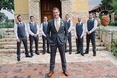 casual royal blue and grey groomsmen | camp lucy wedding | austin wedding photographers