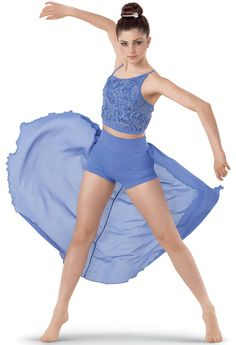 Jazz- Cool For The Summer ( Tan Tights ) ( Tan Jazz Shoes ) ( Bow In Same color put infront of the bun ) *Solo Modern Dance Costume, Cute Dance Costumes, Contemporary Dance Costumes, Dance Costumes Lyrical, Jazz Costumes, Lyrical Dance, Ballet Costumes, Dance Leotards, Dance Outfits