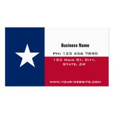 State Of Texas Business Cards & Templates | Zazzle