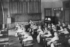 Interior view of the Liberty School in Las Virgenes, circa 1911. Calabasas Historical Society. San Fernando Valley History Digital Library.