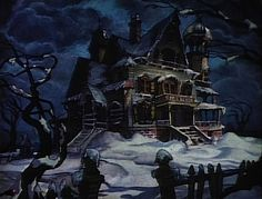 Ken Anderson's background for disney short, lonesome ghosts