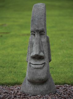 Grand Male Head Sculpture - Easter Island Head Statue. Buy now at http://www.statuesandsculptures.co.uk/easter-island-head-statue-grand-male-head-sculpture