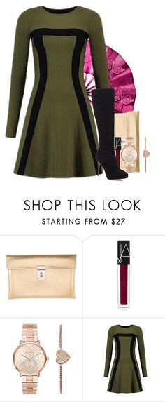 """""""Come Out, Look At Me"""" by my-style-xo ❤ liked on Polyvore featuring Golden Goose, NARS Cosmetics, Michael Kors, Jimmy Choo, kpop, hobgoblin, CLC and kpopinspired"""