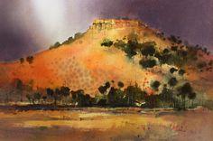 Spinafex Hill - Watercolour by John Lovett