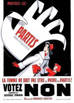 Je ne savais pas où le pinter. En philosophie, ça devient de suite très drôle.   Campagne contre le vote des femmes (1900)
