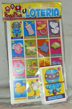 Nice Mexican Baby Shower Loteria Bingo Board Game: 8 Boards + Set Of 60 Cards New