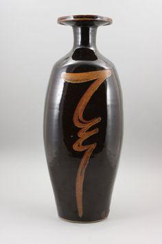 ***David Leach (British, 1911-2005) A tall bottle Vase, circa 1985