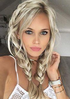 blonde haare blaue augen