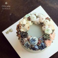 #Buttercream #flowercake #ollicake #korea #birthday #cakes #peony #wreath #버터크림 #플라워케익 #올리케이크 #돌케익 #동편마을 ollicake@naver.com