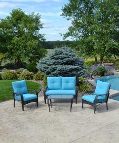 Backyard Creations Timberland 7Piece Deep Seating Patio Set at
