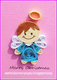 Cute Litte Quilled Angel / Ecstatic Over Paper
