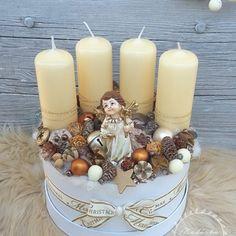Adventbox - karácsonyi asztaldísz, Dekoráció, Otthon, lakberendezés, Asztaldísz, Koszorú, Virágkötés, Mindenmás, Meska