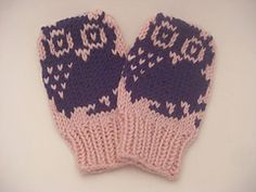 Ravelry: Mini Motif Baby Mittens pattern by Nett Hulse | 8 different motifs, free download!