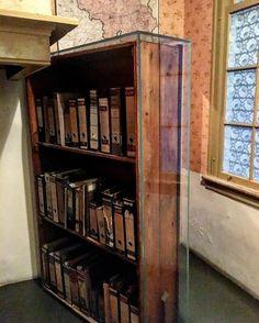 The original bookshelf that lead to the secret annex