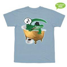 Hvis du ser en krokodille i dit badekar...  T-shirt i str. 2-6 år