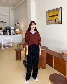 Cute Simple Outfits, Cool Outfits, Casual Outfits, Ulzzang Fashion, Korean Fashion, Cold Weather Fashion, Winter Outfits Women, Korean Outfits, Stylish Dresses