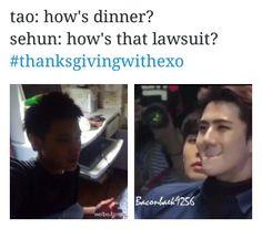 Poor Tao #ThanksgivingWithEXO #EXO #Tao
