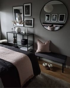 Home IG accounts are your favourites and why? - Home IG accounts are your favourites and why? Home IG accounts are your favourites and - Bedroom Apartment, Home Bedroom, Diy Bedroom Decor, Home Decor, Dark Furniture Bedroom, Black Bedroom Decor, Black Furniture, Bedroom Colors, Bedroom Sets