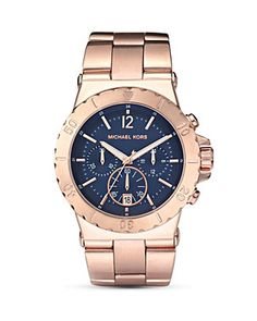 """MICHAEL Michael Kors """"Dylan"""". Rose gold with some edge."""