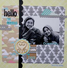 """Ladybugmumof2's project using Echo Park Paper's """"Everyday Eclectic"""" collection"""