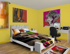 Pop Art Wall Murals, they aren't just for the 90's. Checkout our Pop Art designs at http://www.visionbedding.com/WallMurals/PopArt.php