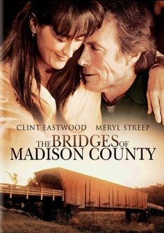 The Bridges of Madison County (1995) When vaguely discontented Iowa housewife Francesca Johnson (Meryl Streep) meets National Geographic shutterbug Robert Kincaid (Clint Eastwood), what begins as a guarded friendship soon erupts into an intense affair that rekindles Francesca's forgotten passions. But Francesca finds her emotions in conflict when the time comes to choose her future. This emotional, Oscar-nominated drama is based on the best-selling novel by Robert James Waller.