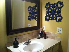 navy and yellow bathroom rugs | Blue & Yellow Bathroom - Bathroom Designs - Decorating Ideas - HGTV ...