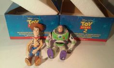Disney Toy Story 2  Buzz Lightyear and Woody Articulated Porcelain Figures New #Pixar