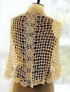 Precioso Chal en Crochet con Patrones