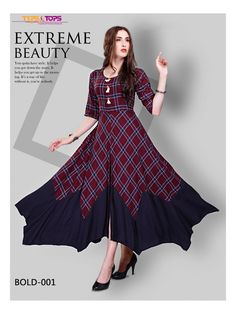 Kurti Patterns, Dress Sewing Patterns, Indian Gowns Dresses, Indian Outfits, Gown Party Wear, Western Dresses For Women, Simple Gowns, Long Kurtis, Designer Evening Gowns