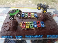 Monster Truck Cake - I used the inspiration from this web site to make this cake for a special 2 yr old