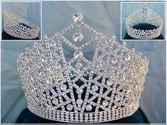 full round crowns | ... Queen /Miss Beauty Pageant Queen rhinestone Sillver Full Crown Tiara
