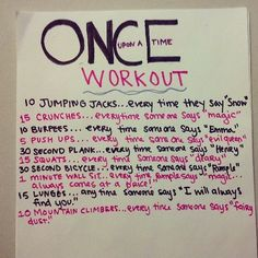 """The """"Once Upon a Time"""" Workout Netflix TV Workouts, TV Workout Games"""