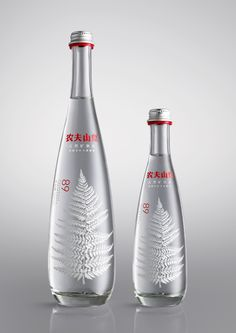 The Dieline Awards Place Non-Alcoholic Beverages- Nongfu Spring - premium mineral water — The Dieline - Branding & Packaging Water Packaging, Beverage Packaging, Brand Packaging, Design Packaging, Label Design, Agua Mineral, Mineral Water, Nautical Logo, Small Bottles