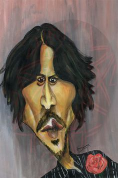 Caricature - Johnny Depp (Acrylic)