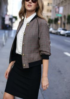 How to Wear a Bomber Jacket to the Office   MEMORANDUM   NYC Fashion & Lifestyle Blog for the Working Girl