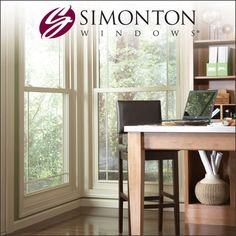 Recognized for quality, Simonton is a trusted replacement window manufacturer offering premium energy-efficient vinyl windows & doors custom for your home. Vinyl Windows, Windows Me, Window Manufacturers, Vinyl Replacement Windows, Take You Home, Patio Doors, Corner Desk, Sunshine, Furniture