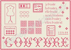 Point de croix *<3* Cross stitch-  free