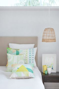 Sydney design: Bright and bold new textiles - Wee Birdy Home Bedroom, Bedroom Decor, Dream Bedroom, Modern Bedroom, Bedroom Ideas, Interior Styling, Interior Design, Lounge, Recycled Furniture