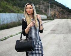 Style Statement : LOOK DO DIA: PIED-DE-COQ DRESS