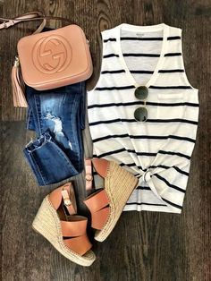 IG: @mrscasual | Spring's must have item: stripe tank