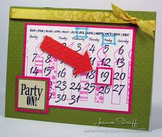 Party On Card by DCS Designer Jeanne Streiff