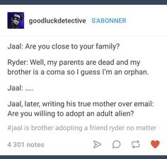 XD He would ^> And knowing his true mother, SHE would Jaal Mass Effect, Mass Effect Andromeda Jaal, Mass Effect 1, Mass Effect Funny, Mass Effect Games, Sara Ryder, Space Travel, Dragon Age, Geek Stuff