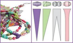 How to achieve Paper bead shapes