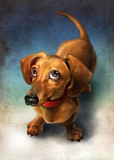 Puppy, an art print by Jeremy Norton Artist This is a gallery-quality giclée art print on cotton rag archival paper, printed with archival inks. Basset Dachshund, Dachshund Art, Daschund, Cute Drawings, Animal Drawings, Weenie Dogs, Dog Portraits, Animal Paintings, Dog Art