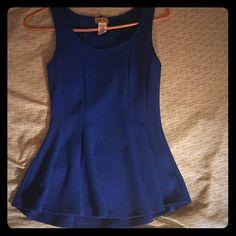 Peplum Blue peplum top (worn once) Tops
