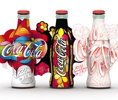 Packaging of the World: Creative Package Design Archive and Gallery: Coca-Cola Start Again Designed by Artefice Group, Italy. Cool Packaging, Beverage Packaging, Bottle Packaging, Brand Packaging, Design Packaging, Coca Cola Bottles, Pepsi Cola, Coke Cans, Garrafa Coca Cola