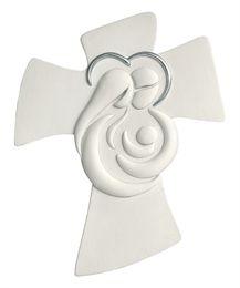 Mostra dettagli per MEMORY CROCIFISSO DA PARETE 45X36 SACRA FAMIGLIA BIANCO ARGENTO Clay Crafts, Diy And Crafts, Arts And Crafts, Ceramica Exterior, Rakhi Design, Mary And Jesus, Holy Family, Sculpture, Cold Porcelain